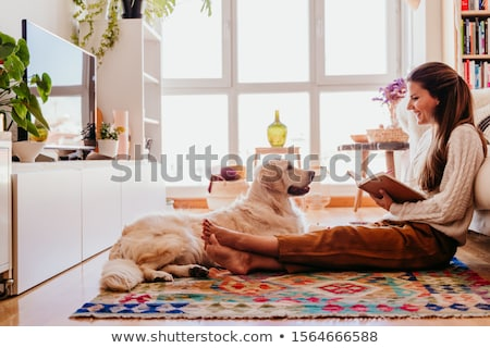 Woman writing in notebook during breakfast, top view Stock photo © stevanovicigor