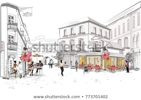 Street Cafe Lantern Stock photo © zhekos