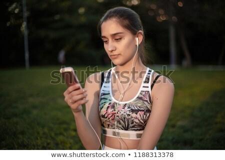 Jonge vrouwen tropische stedelijke park twee Stockfoto © dash