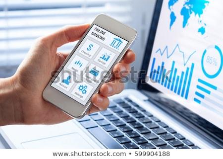 Banking Concept on Laptop Screen. Stock photo © tashatuvango