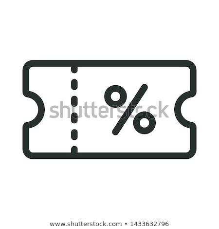 árengedmény utalvány ikon üzlet papír kék Stock fotó © kiddaikiddee
