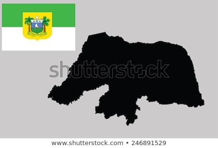 Сток-фото: карта · Рио · вектора · Бразилия · изолированный · иллюстрация