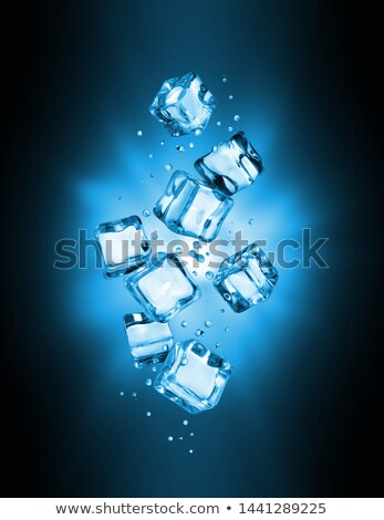 Ice Cube flash splash glas water licht Stockfoto © alex_l