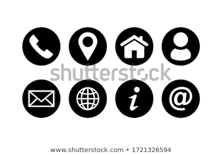 set of map pointer icons for website and communication stock photo © kiddaikiddee