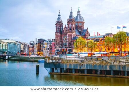 Iglesia Amsterdam Países Bajos ciudad viaje Foto stock © vladacanon