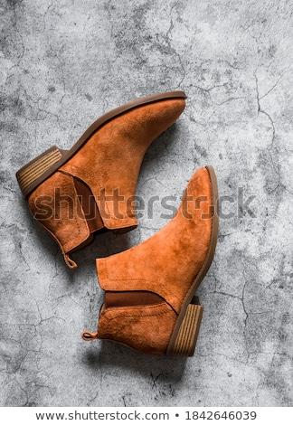 feminino · pernas · alto · marrom · couro · botas - foto stock © luissantos84