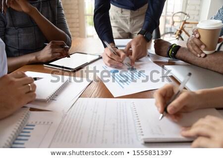 Líder documento negócio plano Foto stock © mizar_21984