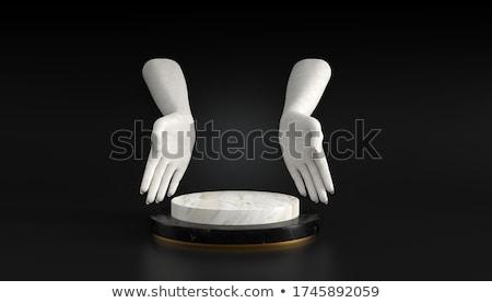 Cylinder kobiet ręce biały cień Zdjęcia stock © master1305