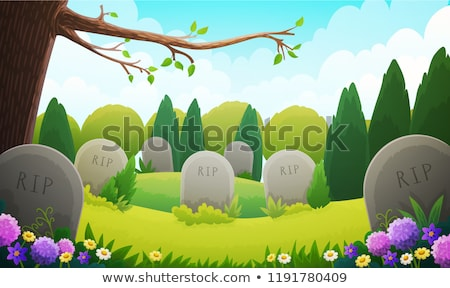 headstone in the cemetery Stock photo © adrenalina
