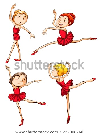plain sketches of the ballet dancers stock photo © bluering
