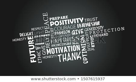 Motivasyon kelime okul tahta ahşap arka plan Stok fotoğraf © fuzzbones0