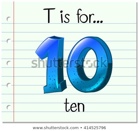T betű tíz illusztráció háttér művészet oktatás Stock fotó © bluering