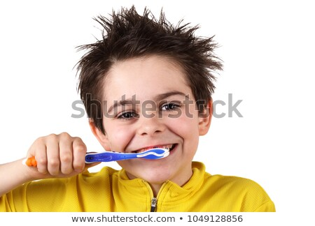 Brush your teeth with toothbrush and paste Stock photo © bluering