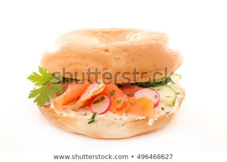 ベーグル チーズ 大根 食品 背景 パン ストックフォト © M-studio
