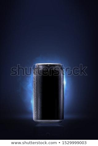 halloween icons with reflect on black background stock photo © punsayaporn
