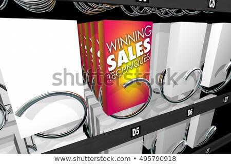 Winning Sales Techniques Snack Vending Machine 3d Illustration Stock photo © iqoncept
