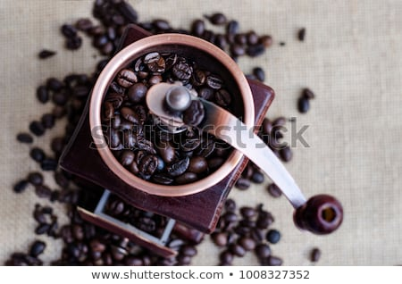 café · isolado · branco · madeira · metal - foto stock © Filata