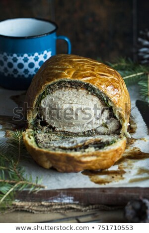 baked beef fillet with dough for christmas Stock photo © M-studio