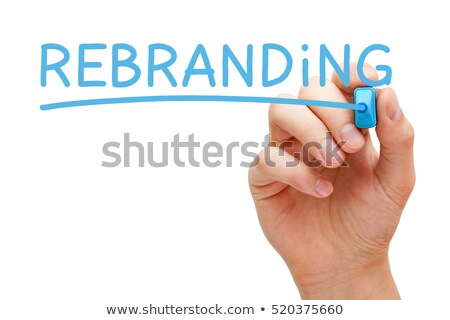Branding · blau · Marker · Hand · schriftlich · transparent - stock foto © ivelin