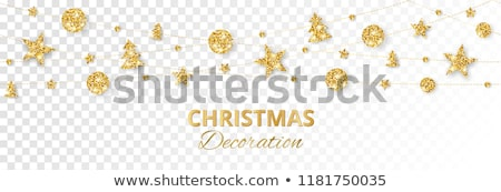 christmas tree of gold foil stock photo © blackmoon979