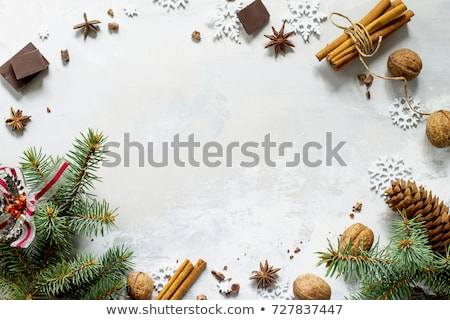 Christmas background with walnuts in snow Stock photo © andreasberheide