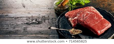 Nyers marhahús hús fakanál steak friss Stock fotó © Digifoodstock