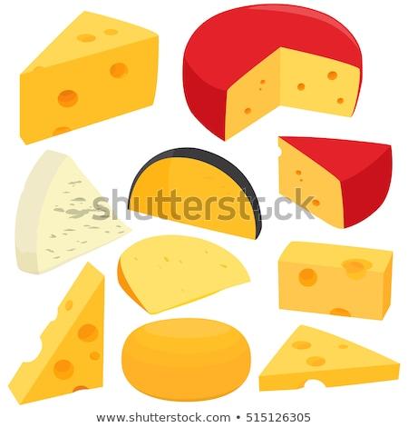 Pezzi formaggio giallo alimentare design sfondo Foto d'archivio © Natali_Brill