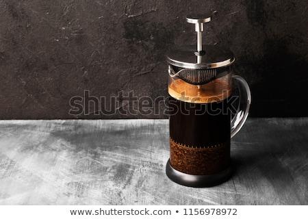 Frans druk geïsoleerd witte ochtend vector Stockfoto © Filata