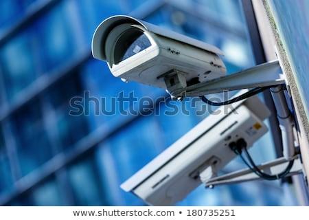 Surveillance camera on modern building Stock photo © stevanovicigor
