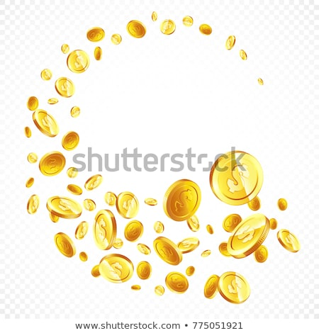 Falling golden coins gambling background Stock photo © day908