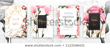 Minimalist floral background frame Stock photo © orson