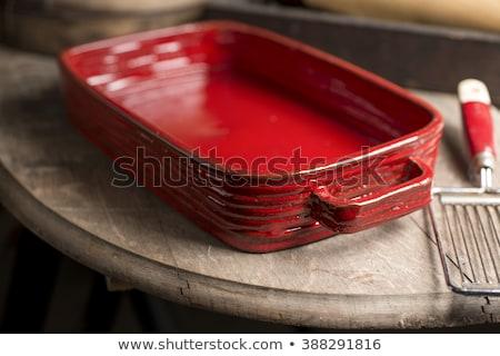Prostokąt ceramiczne naczyń gotować biały Zdjęcia stock © Digifoodstock