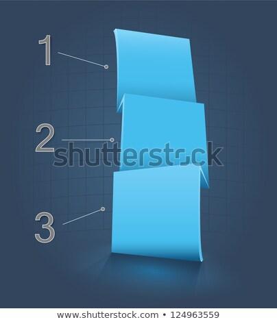three options dark vertical banners Stock photo © SArts