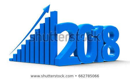 business graph up with 2017 stock photo © oakozhan