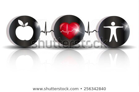 Physical activity and healthy diet prevents heart disease and st stock photo © Tefi