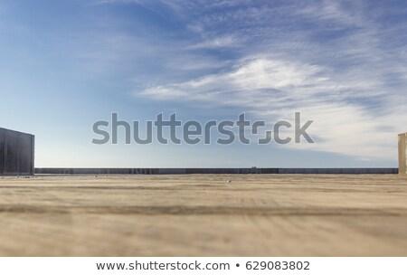 詳細 屋根 空 画像 赤 タイル ストックフォト © w20er