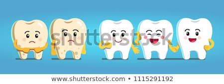 colorful tooth illustrations stock photo © tefi