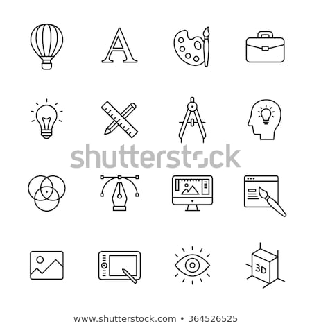 web design illustration thin line stock photo © genestro