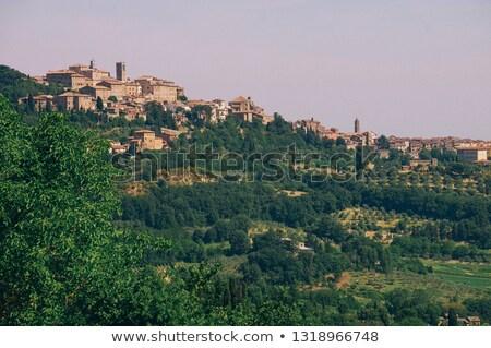 tuscany village landscape stock photo © joyr