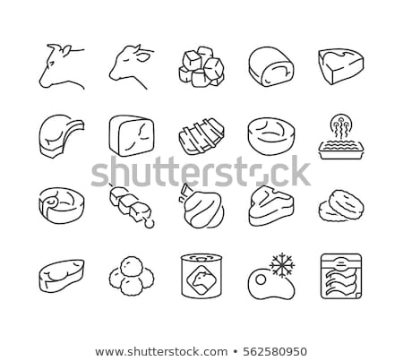 Set of frozen meat Stock photo © Givaga