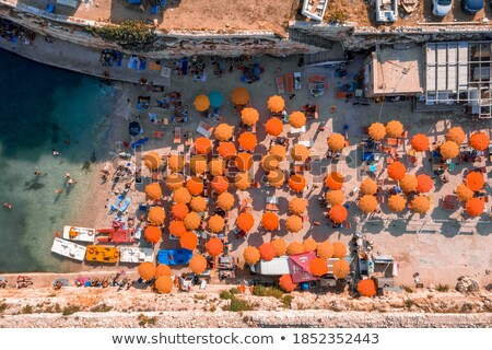 aerial panoramic view of villages on the adriatic coast near anc stock photo © elenarts