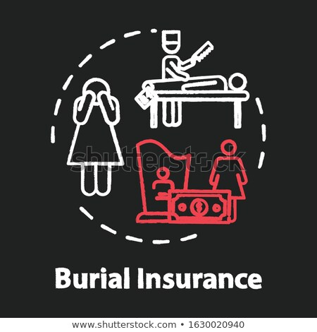 Insurance Plan Concept. Doodle Icons on Chalkboard. Stock photo © tashatuvango