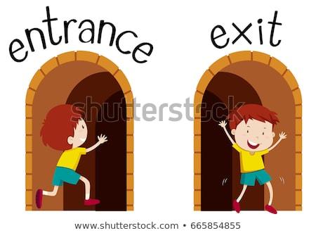 Oposto entrada sair ilustração criança fundo Foto stock © bluering