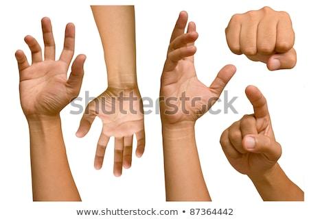Gesto sinalizar homem mão okay Foto stock © studiostoks
