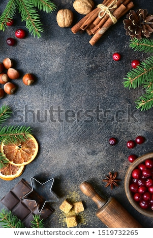 Kulinarny christmas projektu kuchnia zimą Zdjęcia stock © yelenayemchuk