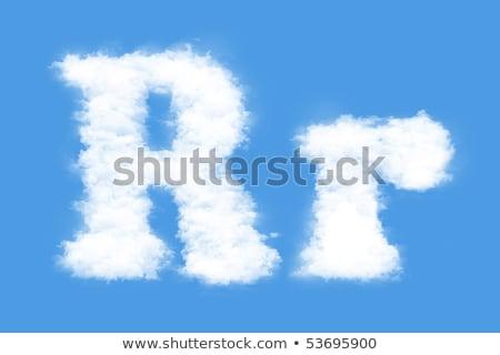 R betű felhő betűtípus szimbólum fehér ábécé Stock fotó © popaukropa