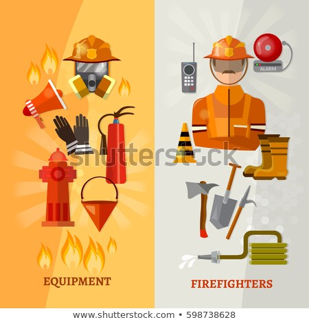 Fireman with Megaphone Stock photo © derocz