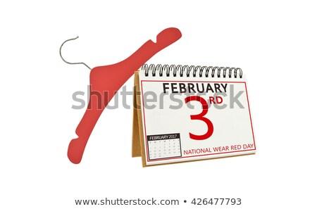 desgaste · vermelho · dia · senhora · vestido · vermelho · ícone - foto stock © olena