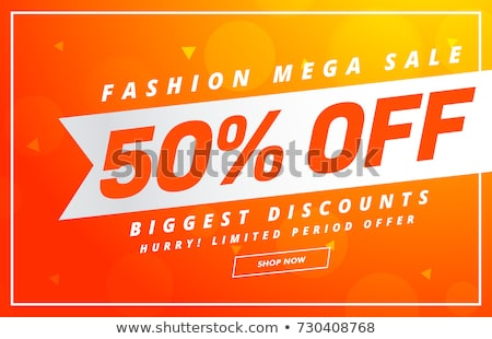 bright sale banner design vector template for your promotion Stock photo © SArts