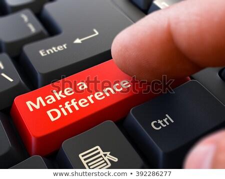 Fark kişi tıklayın klavye düğme Stok fotoğraf © tashatuvango